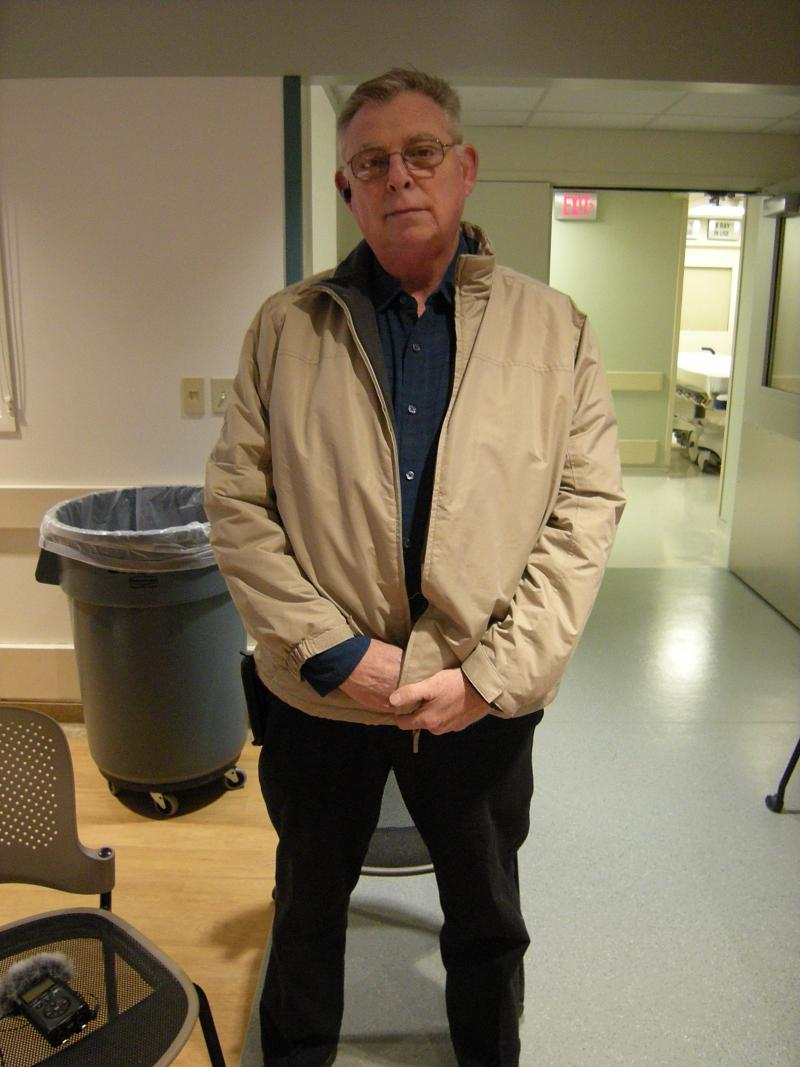 Patient John Brinker got the experimental Aborsb™ stent and says he is feeling great.
