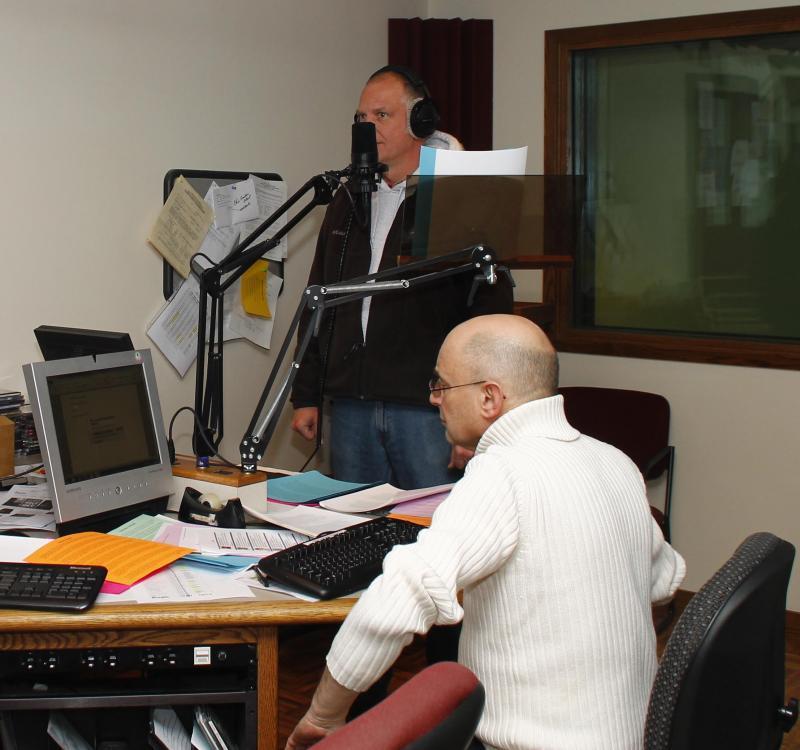 Mark Perzel (standing) Len Sternberg (sitting)