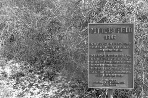Marker at Price Hill Potter's Field