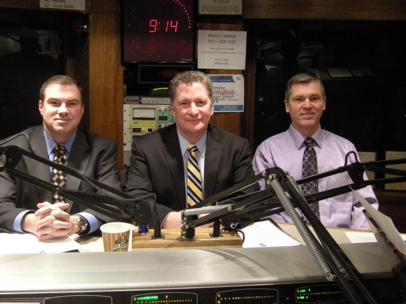 Rob Hans, Tom Gabelman and Steve Mary in the WVVXU Studios