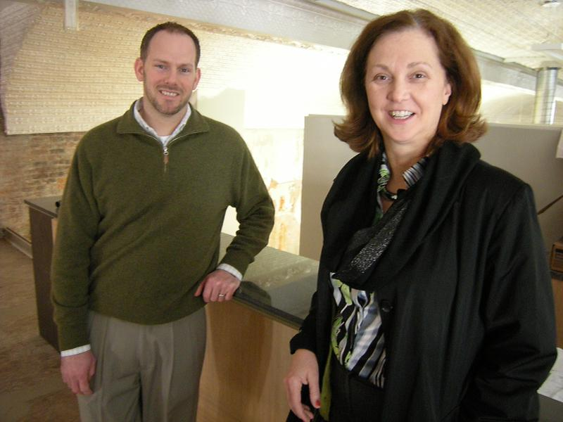 Keith Schneider, bioLOGIC managing director and Karen Finan, senior VP at NKY Tri-ED