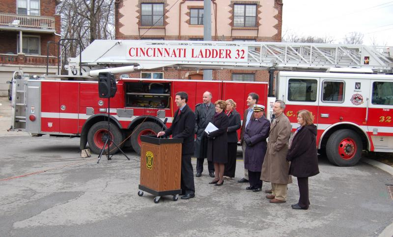 Cincinnati press conference on changes to smoke detectors for rental units