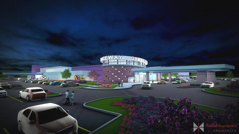 This is a rendering of Miami Valley Gaming, Union Rd., and St. Rt. 63.