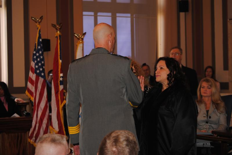 Judge Nadine Allen administers the Oath of Office.