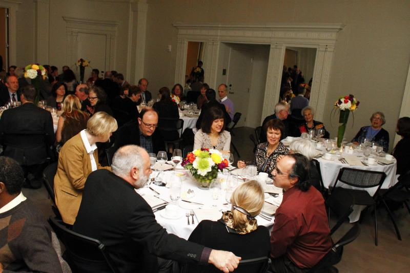 Guests enjoy dinner at 21c Museum Hotel