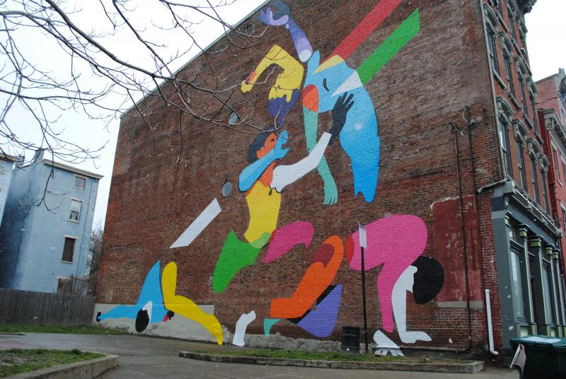"Maser's mural entitled ""Get Up"" will be unveiled on Friday, March 29th."