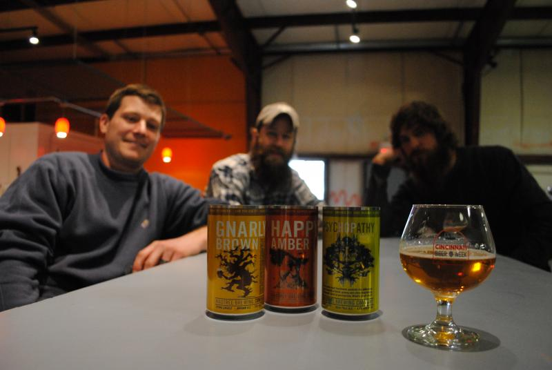 Jeff Hunt, Kenny McNutt and Brady Duncan from Mad Tree Brewing Company