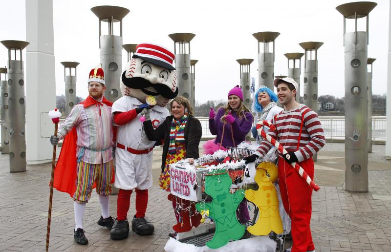 Team Candy Land is posing with Redlegs at a checkpoint.