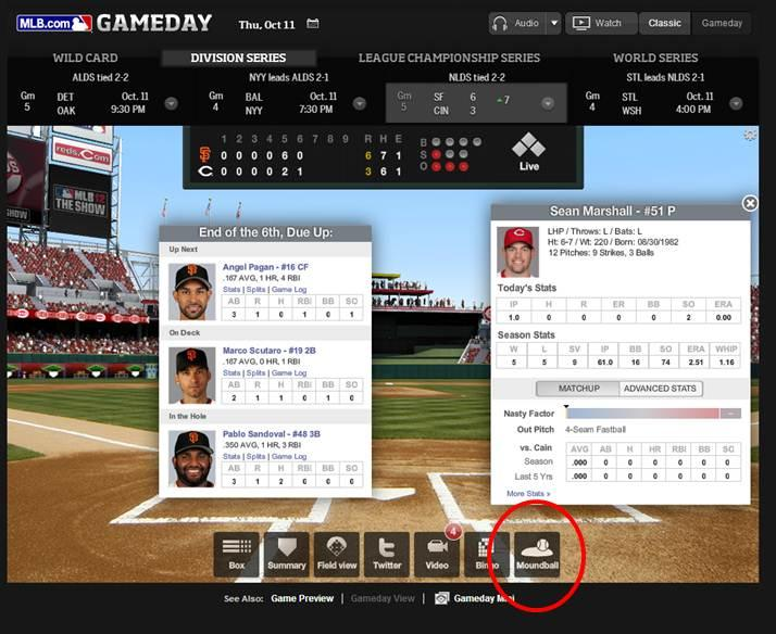 MLB's Gameday (Reds vs Giants)