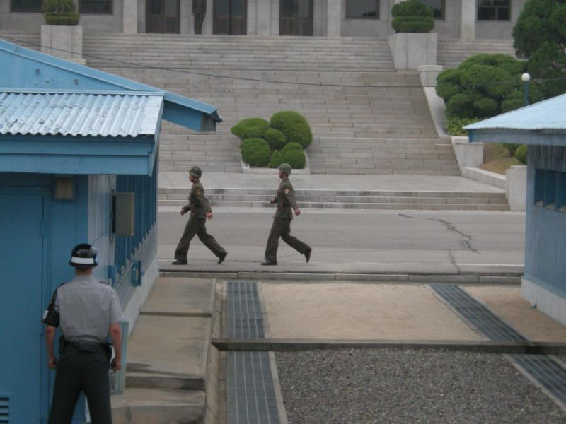 The North Korean/South Korea border.