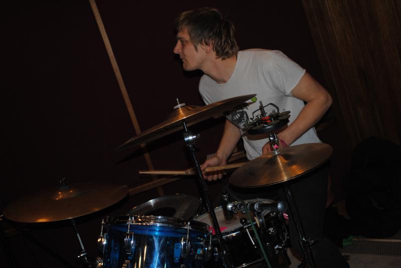 Jerri Queen on drums