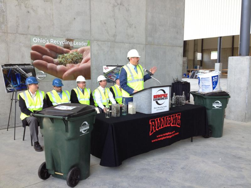 Rumpke announces progress on the new recycling facility paid for in part by an Ohio EPA grant.