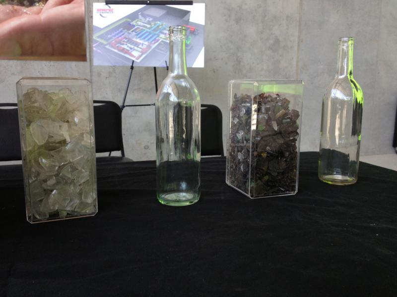 The biggest markets for recycled glass are glass container companies and fiberglass insulation companies.