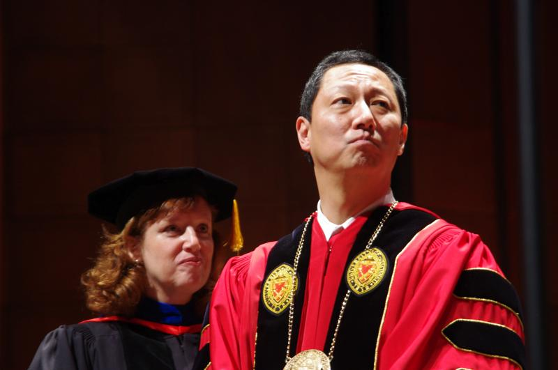 UC's 28th president, Santa Ono, during official investiture ceremony.