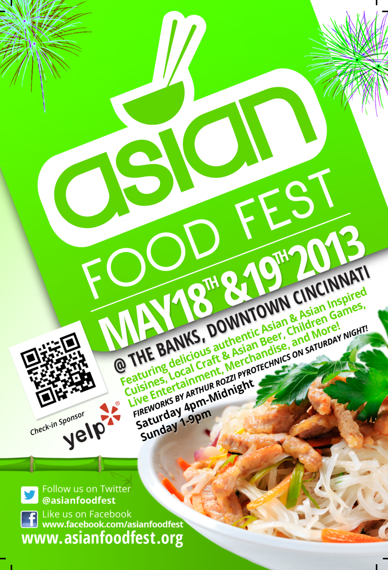 A flyer for this year's Asian Food Fest