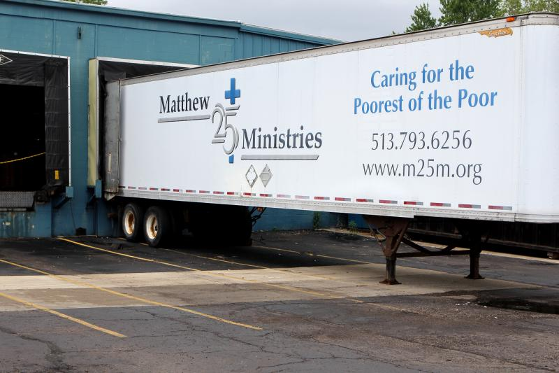 Matthew 25 trucks carried more than 90,000 meals, along with blankets, water and personal care items to Moore, OK.