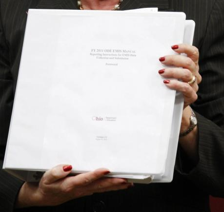 CPS and other districts around the state must keep up with the Ohio Department of Education's 500 page book of rules.
