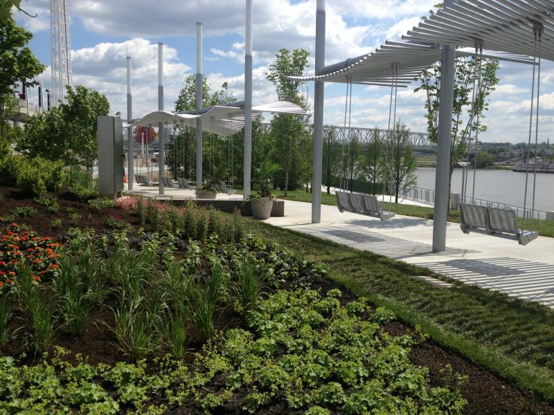 The Duke Energy Garden is the newest addition to Smale Riverfront Park.