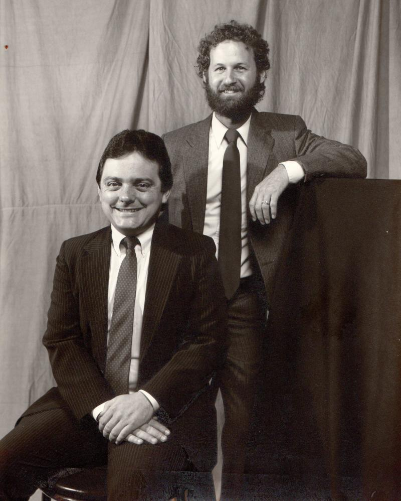 Bill and Pieter Wykoff, the other SNB radio reporter in the late 80s/early 90s