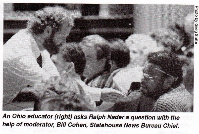 Bill helping to work the crowd at a law conference in the early 80s