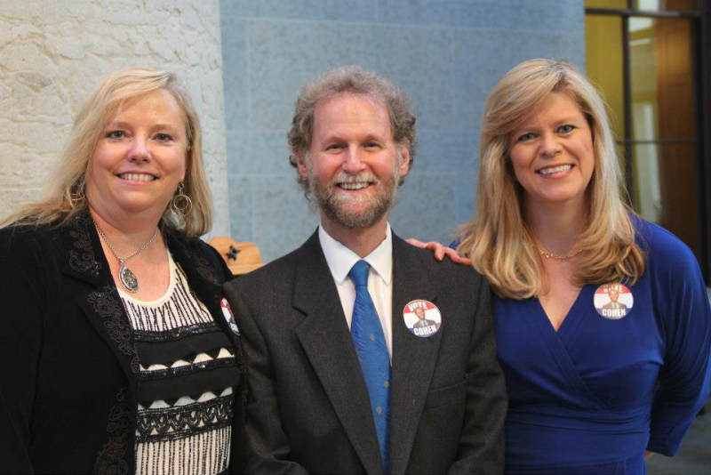 Bill with colleagues Jo Ingles (r) and Karen Kasler (L)