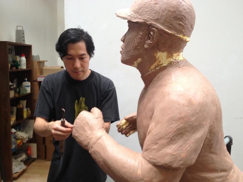 Tom Tsuchiya is putting the final touches on his Joe Morgan statue this week.