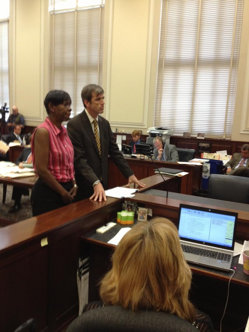 Melowese Richardson and her attorney, William Gallagher