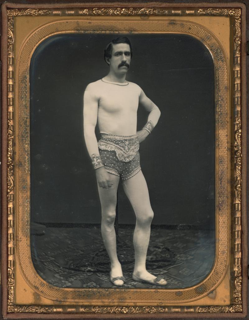 Tightrope Walker daguerreotype