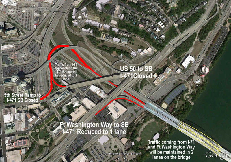 471 construction ramp closing map