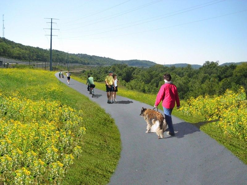 More trails are open behind Holmes High School. Eventually the trails will stretch to I-275.