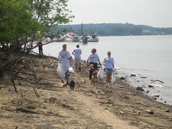 About 20,000 volunteers help out each year with River Sweep, which covers six states on the Ohio River.