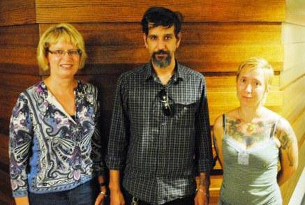 Cathleen Snyder, Chris Sanders and India Behrens