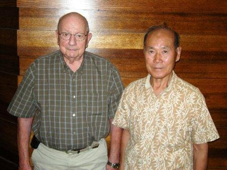Korean War Veterans Bob McGeorge and Dr. Bak Suk Lee
