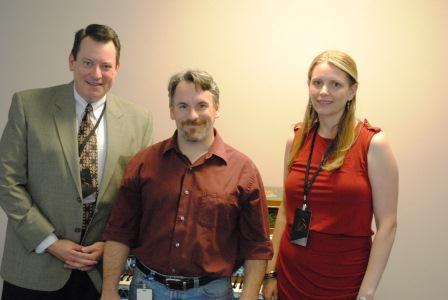 Mark Ernster, Jim Nolan and Sara Danner Dukic