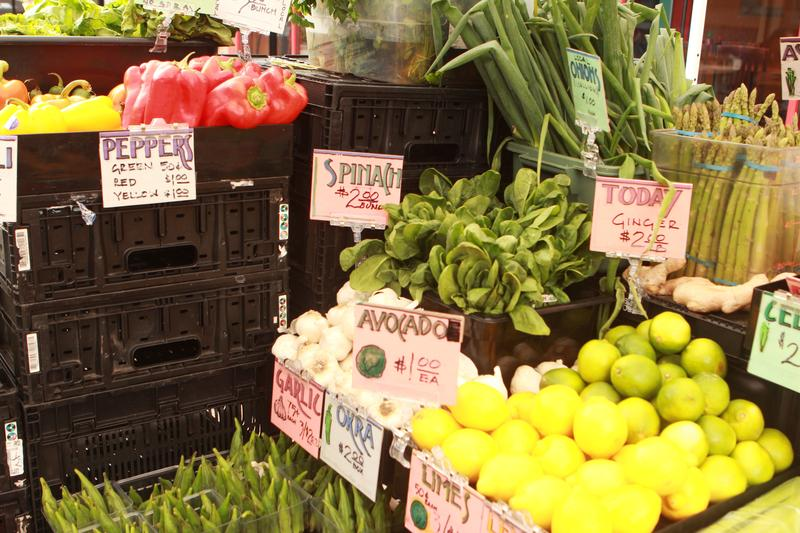 Produce at a stand in Findlay Market.