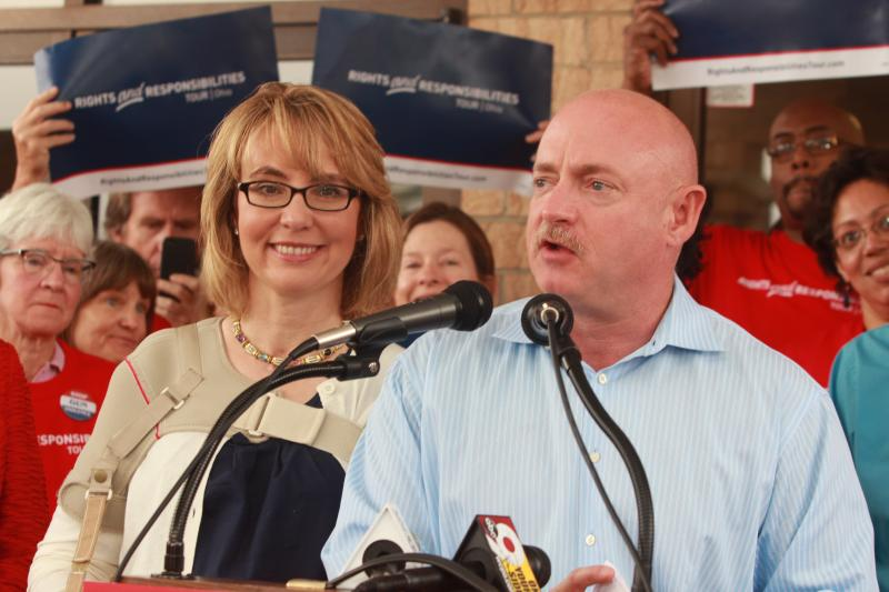 Mark Kelly speaks about the rights and responsibilities connected to the 2nd Ammendment to the Constitution supported by his wife former congresswoman Gabrielle Giffords.