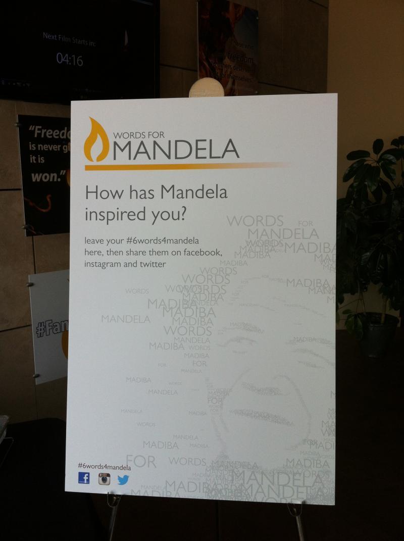 #6Words4Mandela at the Freedom Center