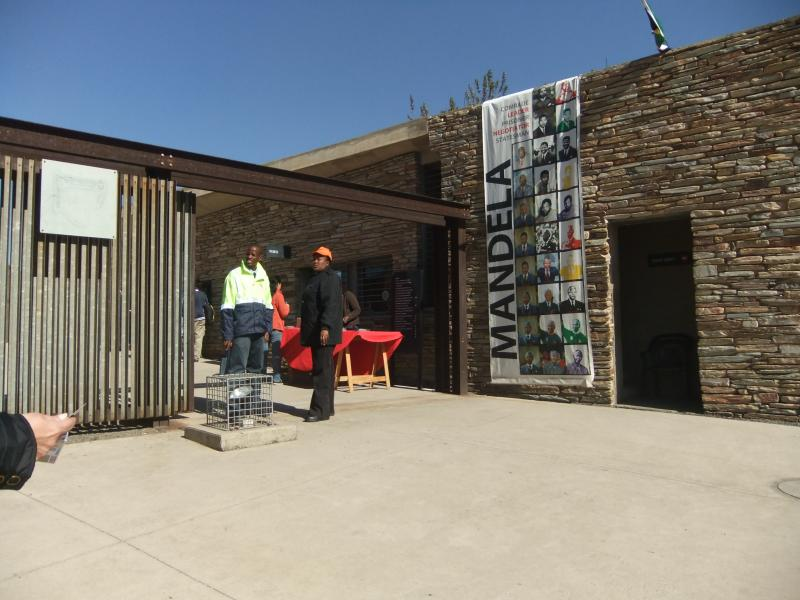 In Johannesburg, visitors to the Apartheid Museum enter through a symbolic prison-like gate.