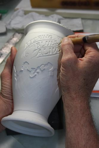 Carving the beer stein