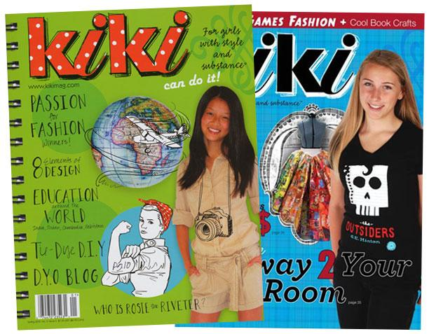 Kiki Magazine is written for girls ages 8-14 and was the 2013 winner of the Parents' Choice Gold Award