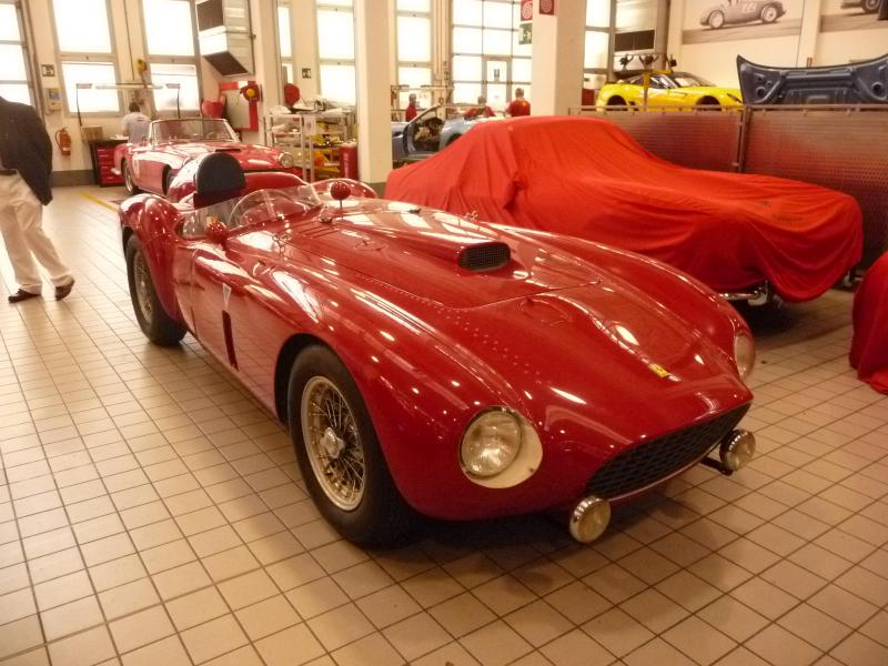 The refurbished Ferrari 375 Plus in Italy