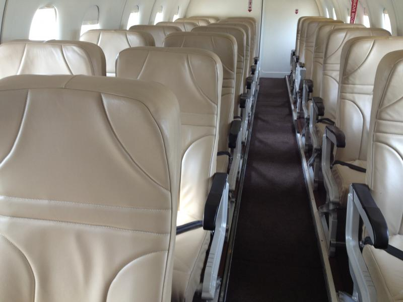 Inside Ultimate Air's 30-seat Dornier 328 Jet.