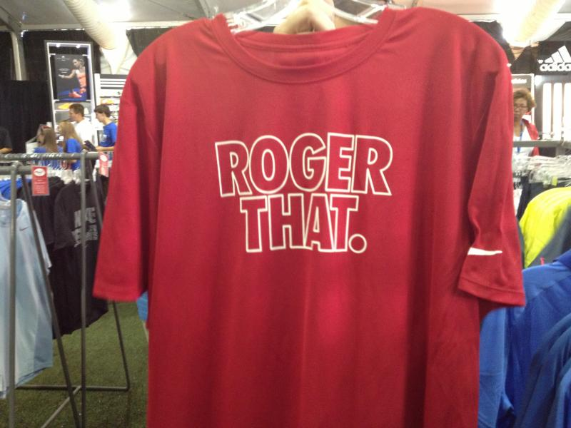 Store owners say this shirt (Roger Federer) is one of the most popular.