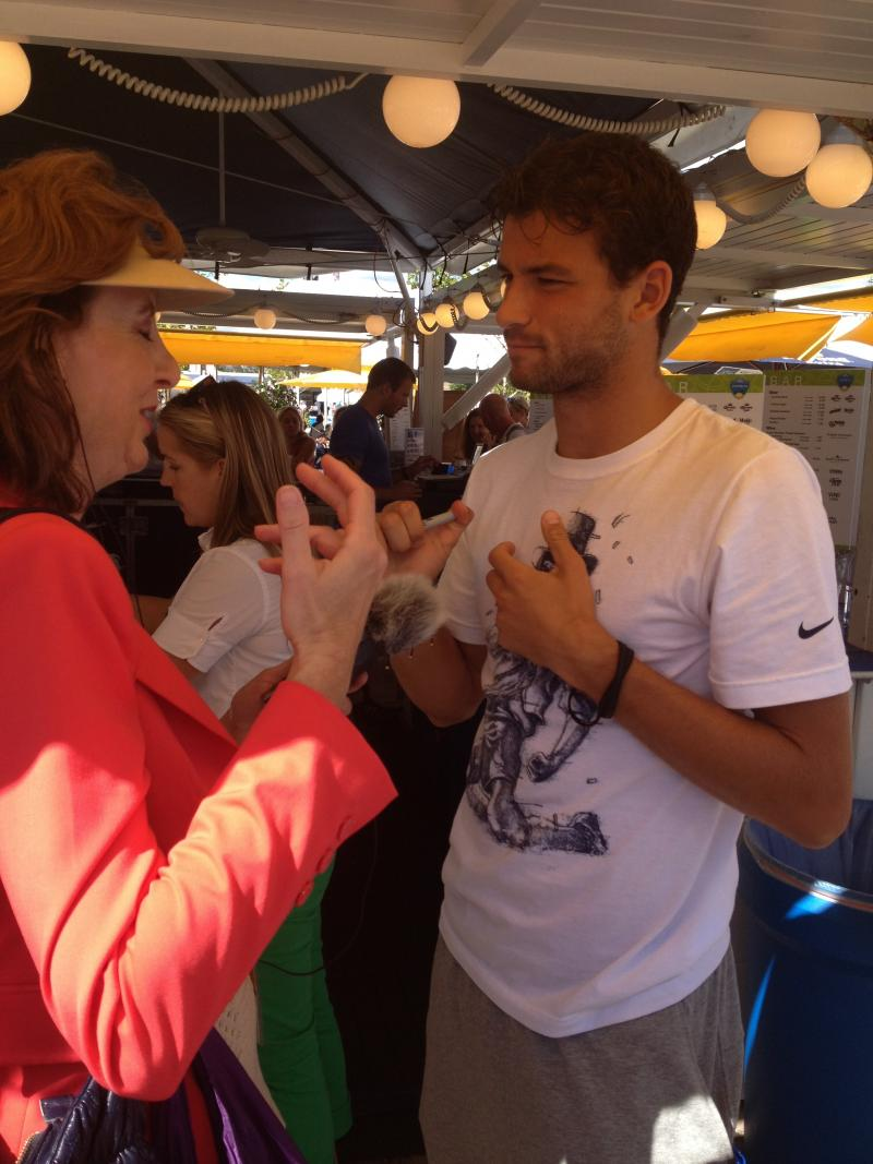 I interviewed Grigor Dimitrov about his international fan following.
