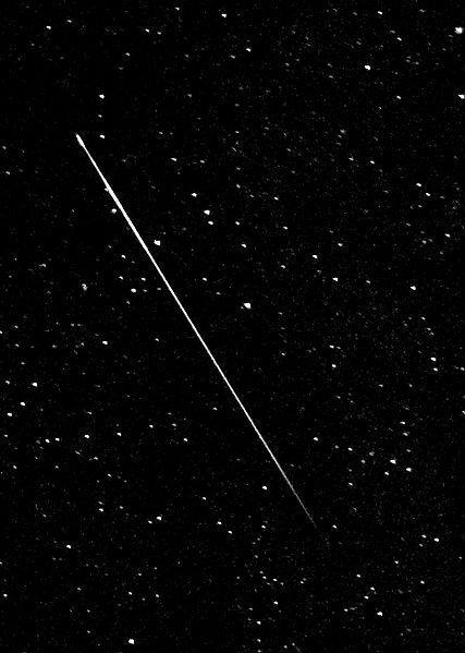 Perseid meteor in August 2008.