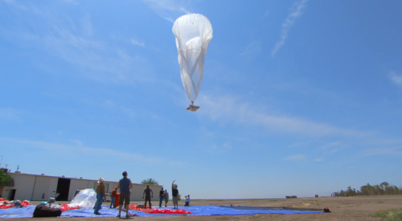Google scientists launch a balloon designed to provide Internet access to people in New Zealand.