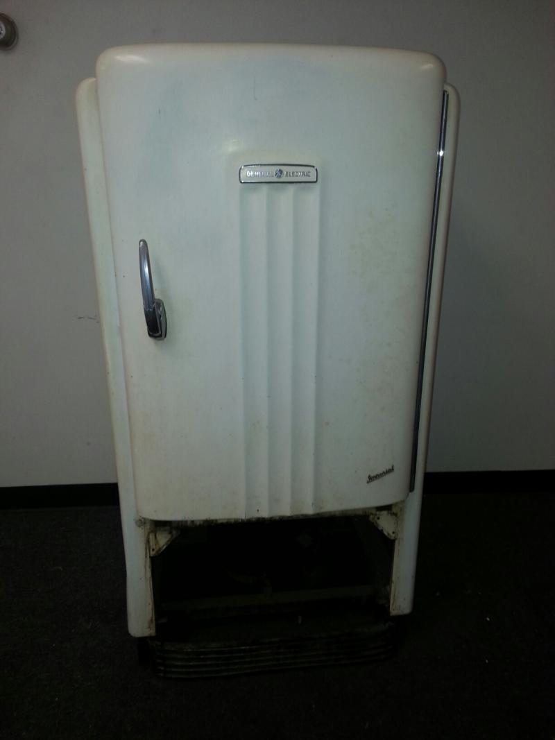 Equally old.  GE refrigerator turned in by Thomas Kihm from Green Township.