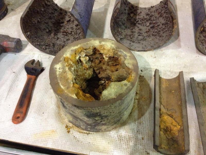 The EPA's test site at MSD shows what your 100 year old water pipes look like, and believe it or not, these are good! They just have calcium, iron and sediments.