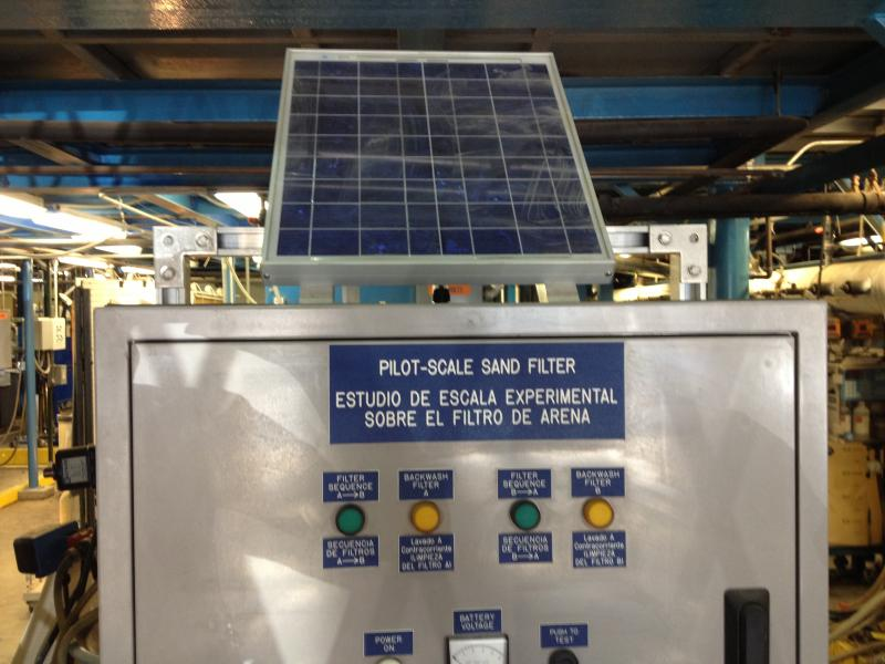 The EPA worked with Puerto Rico to treat water via solar power.