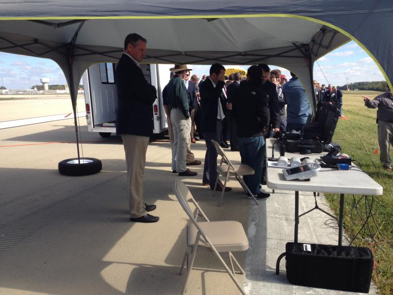 Lots of dignitaries came to the test flight, including Congressman Mike Turner.